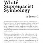 How to Recognize White Supremacist Symbology